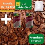 Premium Franse Boomschors 20/40mm - 1.0m³  +  2 Cacaodoppen - Zomer Deal_