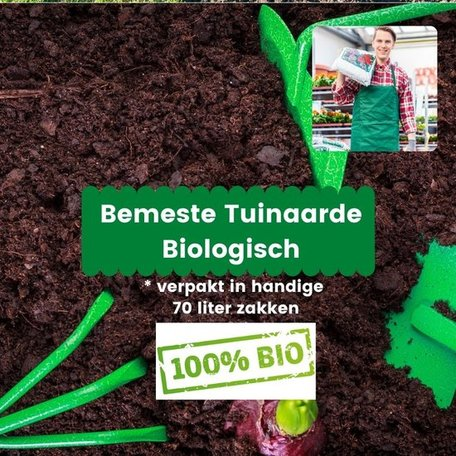 Bemeste Biologische Tuinaarde 7 x 70L
