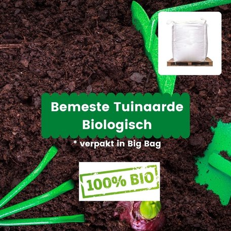 Bemeste tuinaarde Biologisch - 1m³ incl. bezorging (big bag)